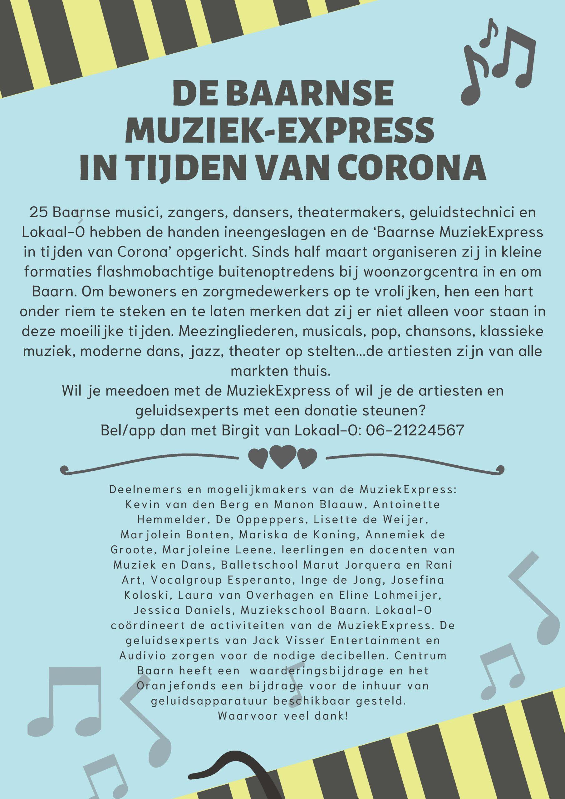 MuziekExpress in tijden van corona