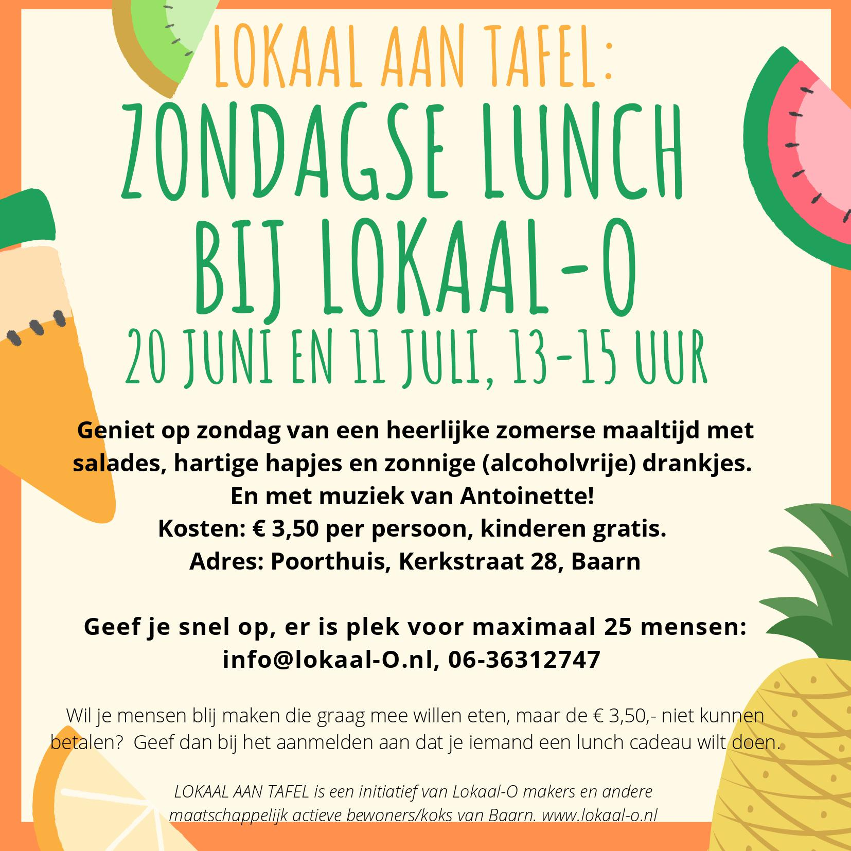 Je bekijkt nu Zondagse Lunches – LOKAAL aan Tafel!