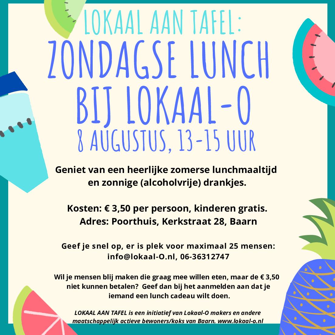 Je bekijkt nu LOKAAL AAN TAFEL: zomerse lunch op 8 augustus