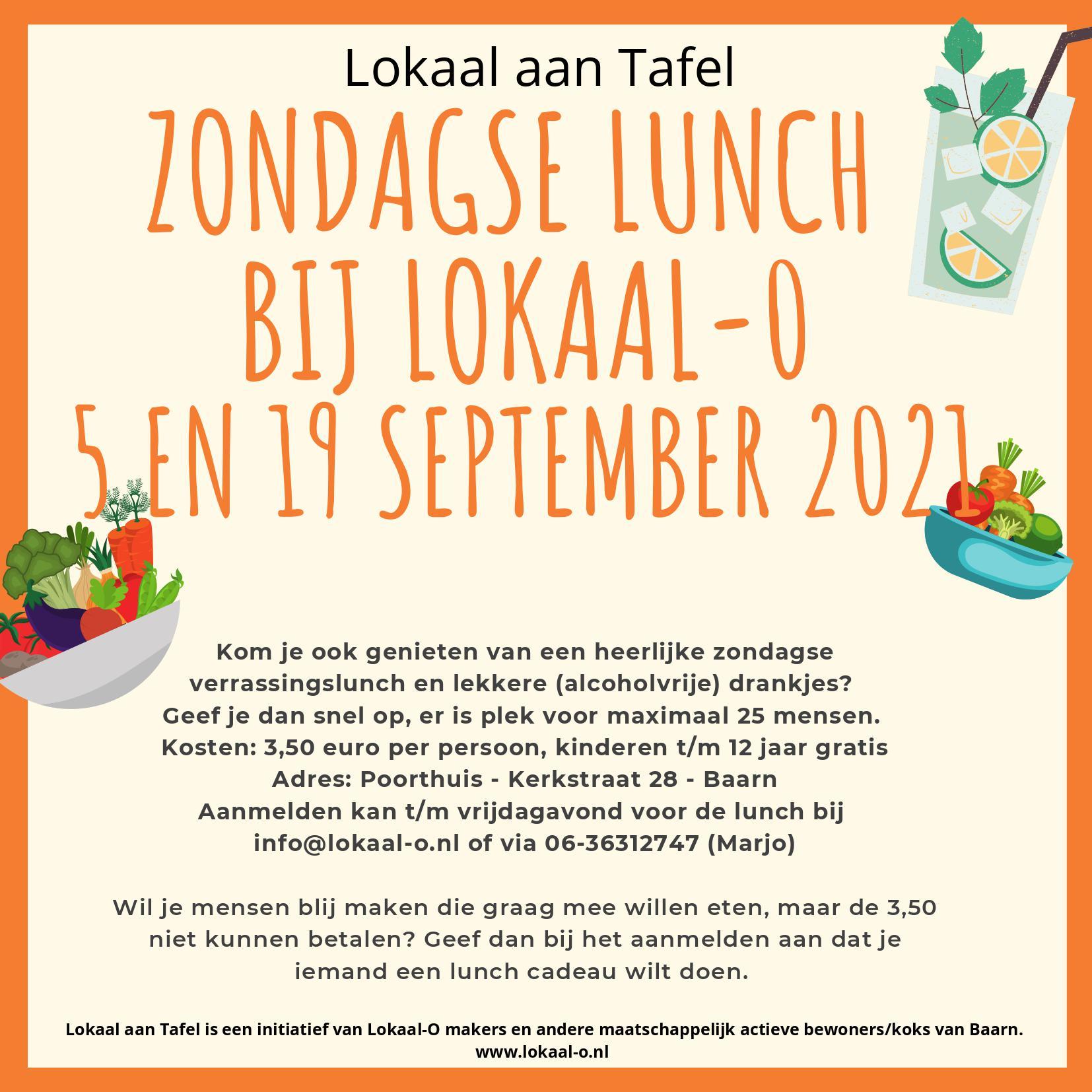 Lees meer over het artikel Lokaal aan Tafel: zondagse lunch op 19 september